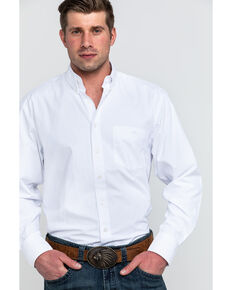 Resistol Men's Hanoverian Solid Long Sleeve Western Shirt , White, hi-res