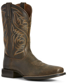 Ariat Men's Sport Herdsman Western Boots - Square Toe, Brown, hi-res