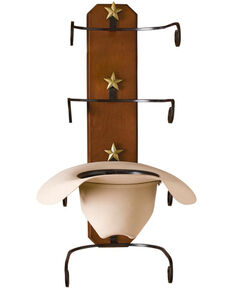 BB Ranch® Birch Wood Cowboy Hat Rack, Brown, hi-res
