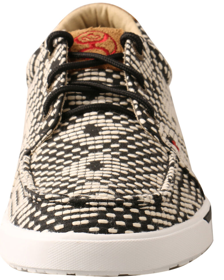 Twisted X Women's HOOey Loper Shoes - Moc Toe, Black/white, hi-res