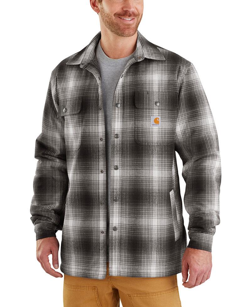 Carhartt Men's Hubbard Sherpa-Lined Shirt Jac - Big , Charcoal, hi-res