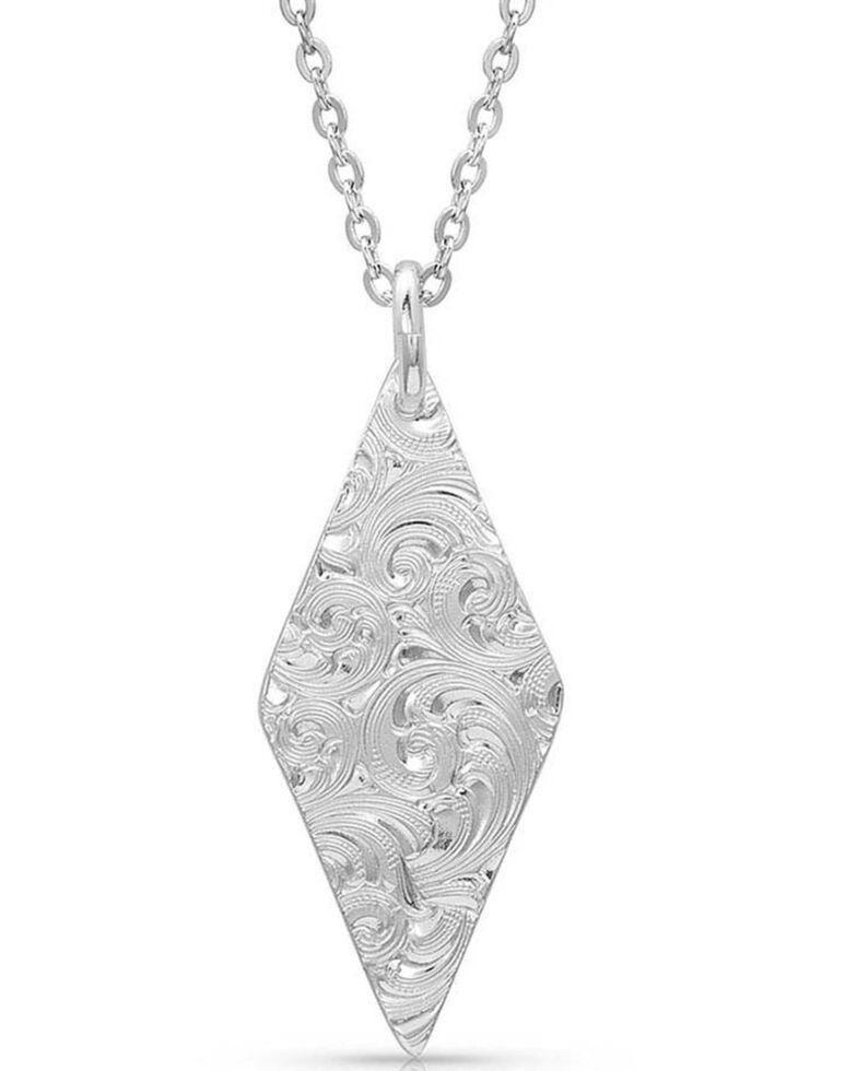 Montana Silversmiths Women's Two Tone Diamond Cactus Necklace, Rose, hi-res