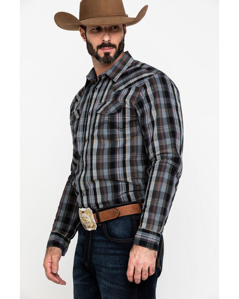 Cody James Men's Chapman Small Plaid Long Sleeve Western Shirt , Black, hi-res