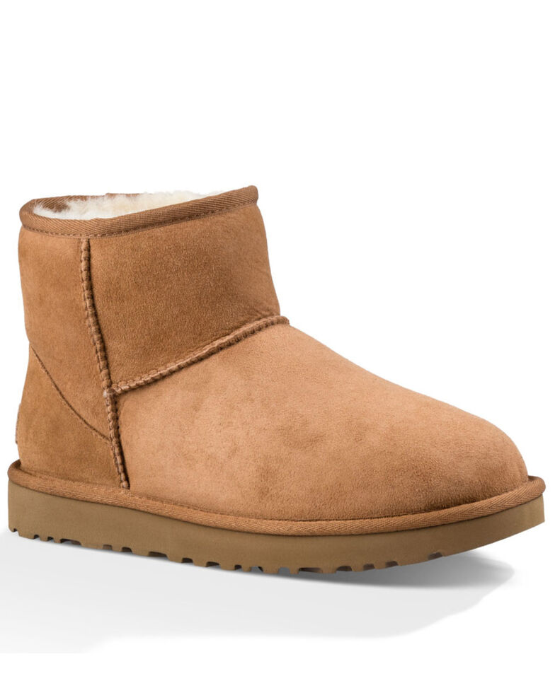 UGG Women's Classic Mini Boots - Round Toe, Chestnut, hi-res