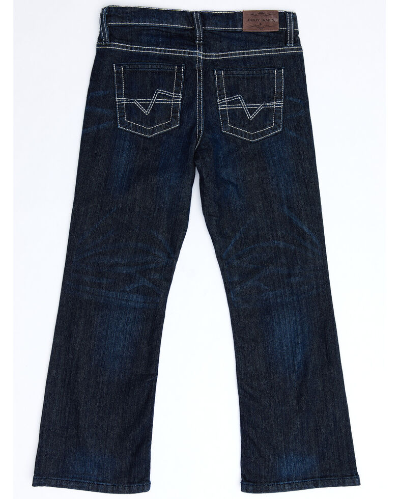Cody James Boys' 8-20 Night Hawk Stretch Relaxed Bootcut Jeans , Blue, hi-res