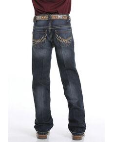 Cinch Boys' 8-18 Performance Denim Relaxed Bootcut Jeans, Indigo, hi-res