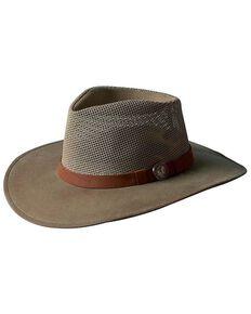 Outback Trading Co. Oilskin Kodiak with Mesh Hat, Sage, hi-res