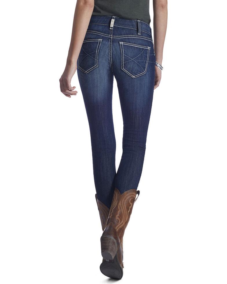 Ariat Real Women's Ella Mid Rise Skinny Jeans, Blue, hi-res