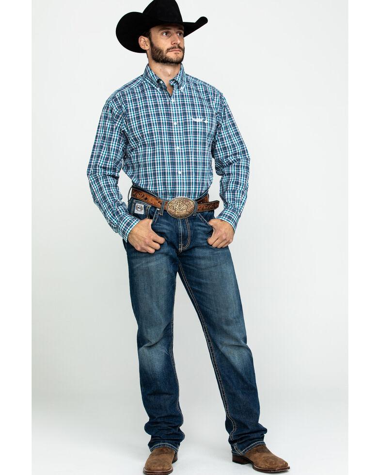 Ariat Men's Influence Multi Plaid Long Sleeve Western Shirt  , Multi, hi-res