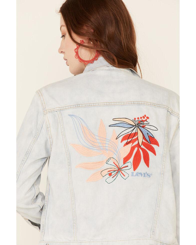 Levi's Women's Light Art Class Ex-Boyfriend Sherpa Trucker Jacket , Light Blue, hi-res