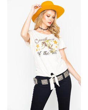 Ariat Women's Cowboy Of The West Graphic Tee , Oatmeal, hi-res