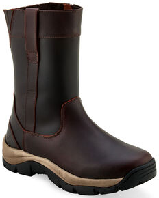 Old West Men's Casual Western Work Boots - Soft Toe, Rust Copper, hi-res