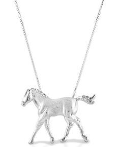 Kelly Herd Women's Trotting Colt Necklace , Silver, hi-res