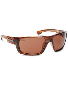 Hobie Mojo Float Shiny Brown & Copper Wood Grain Polarized Sunglasses , Brown, hi-res