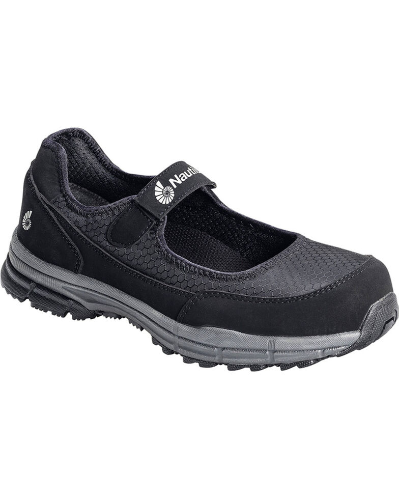 Nautilus Women's ESD No Exposed Metal Mary Jane Work Shoes - Soft Toe, Black, hi-res