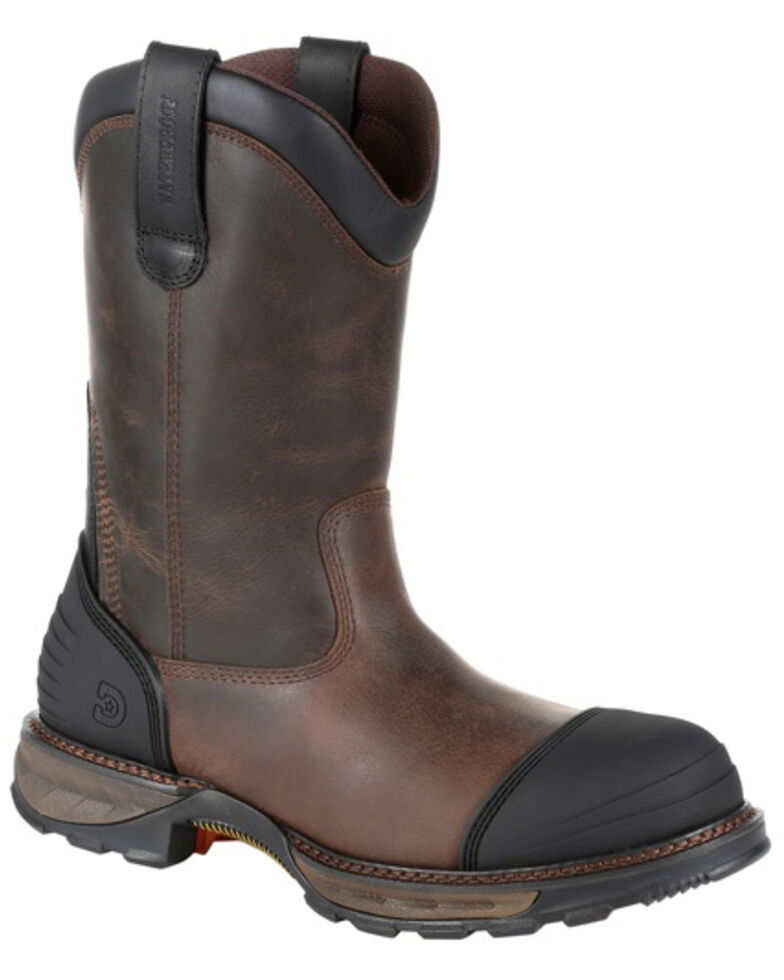 Durango Men's Maverick XP Waterproof Western Work Boots - Composite Toe, Brown, hi-res