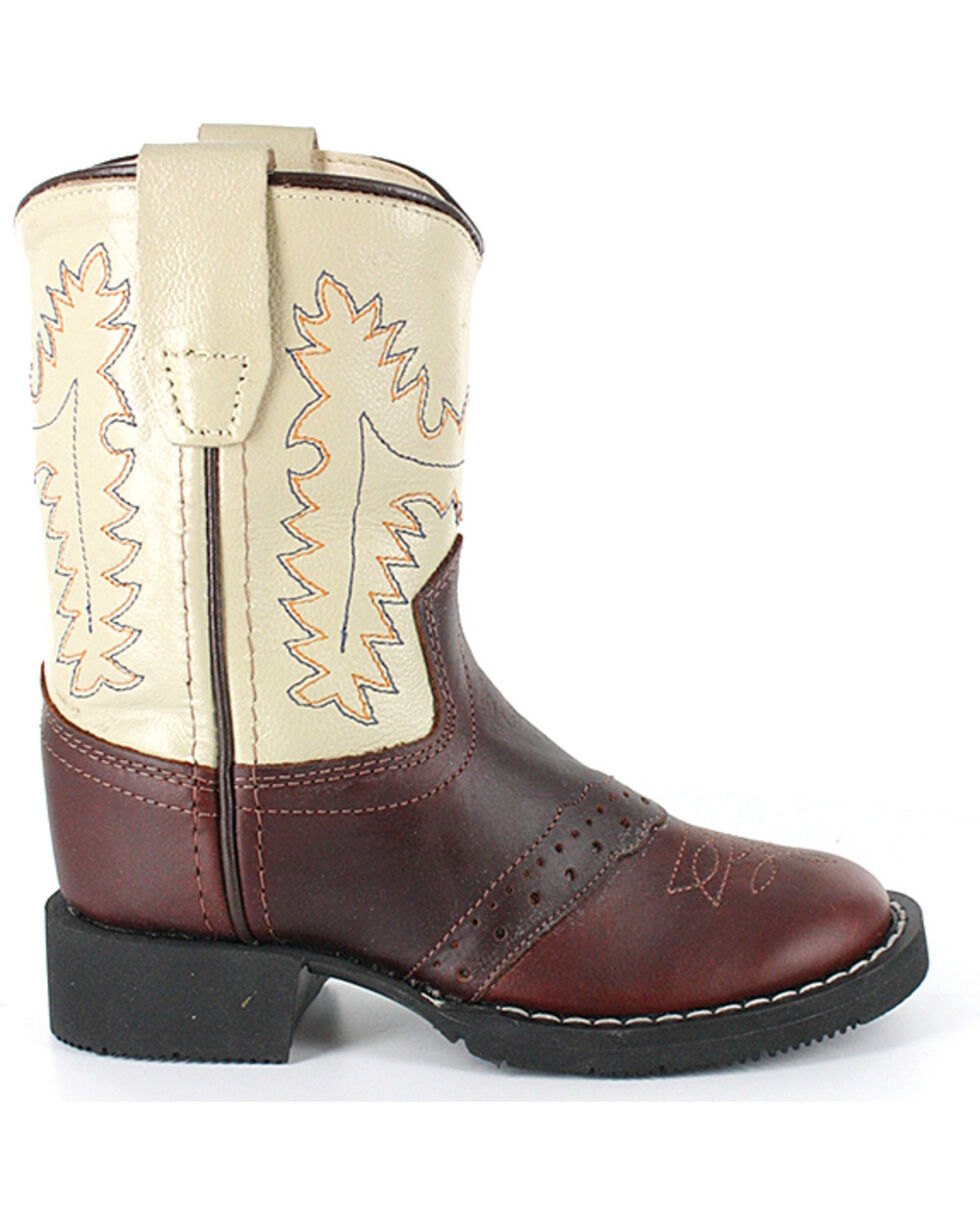 Cody James Toddler Boys' Roper Western Boots - Round Toe, Brown, hi-res