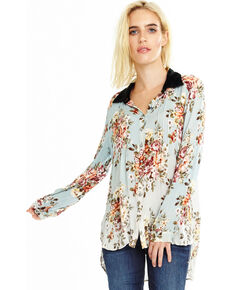 Aratta Women's Verona Shirt, Light Blue, hi-res