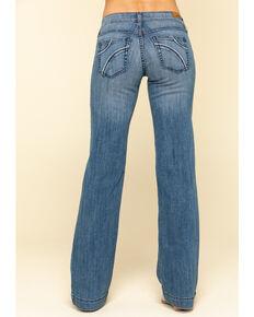 Ariat Women's Medium Half Moon Trousers, Blue, hi-res