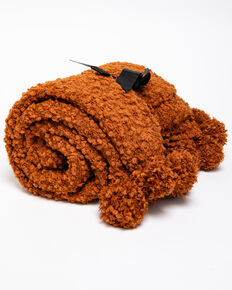 BB Ranch Chunky Rust Knit Throw Blanket, Rust Copper, hi-res
