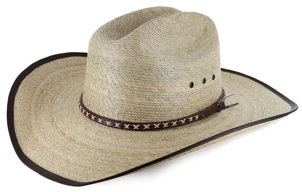 Cody James Brown Trimmed Straw Cowboy Hat Country Outer bb5eacaeaf4c