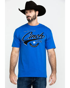 Cinch Men's Royal Blue Logo Graphic T-Shirt , Royal Blue, hi-res