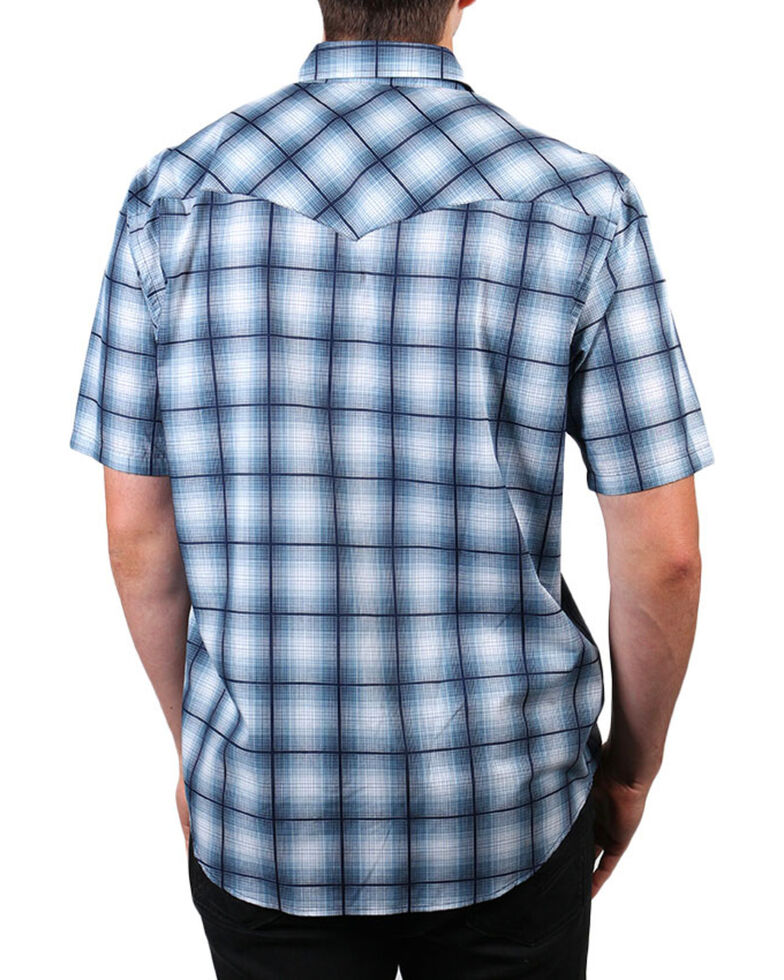 Pendleton Men's Blue Ombre Short Sleeve Plaid Shirt , Blue, hi-res
