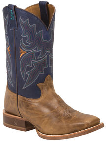 Tony Lama Honey Sierra 3R Stockman Cowboy Boots - Square Toe , Honey, hi-res