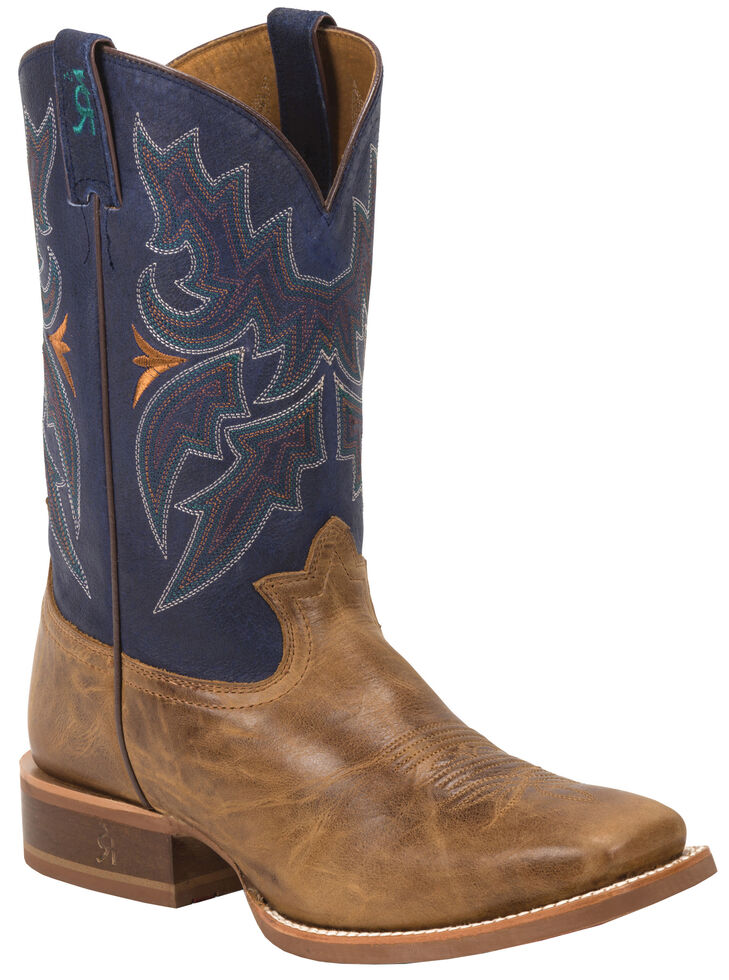 Tony Lama Men's Honey Sierra 3R Stockman Cowboy Boots - Square Toe , Honey, hi-res