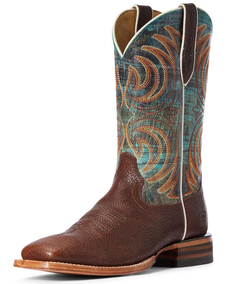 Ariat Men's Storm Bottle Western Boots - Wide Square Toe, Brown, hi-res