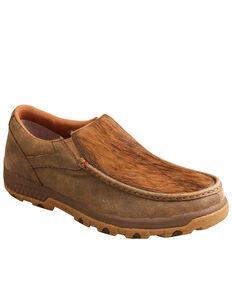 Twisted X Men's Cowhide Brindle Shoes - Moc Toe, Brown, hi-res