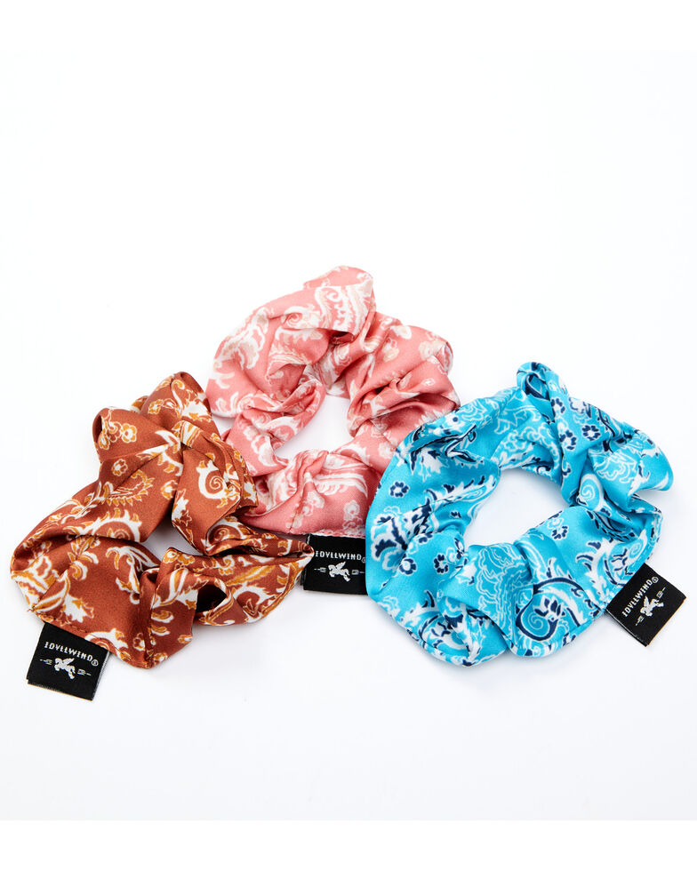 Idyllwind Women's Hold Your Ponies Scrunchie Pack - 3 Pack, Multi, hi-res