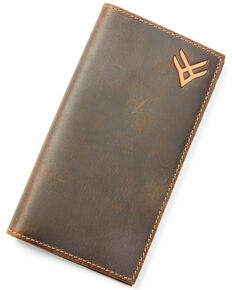 Hawx Men's Logo Rodeo Wallet, Brown, hi-res