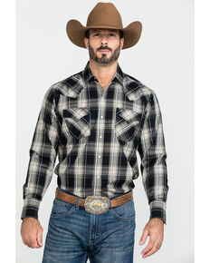 Ely Cattleman Men's Textured Multi Plaid Long Sleeve Western Shirt - Tall , Multi, hi-res