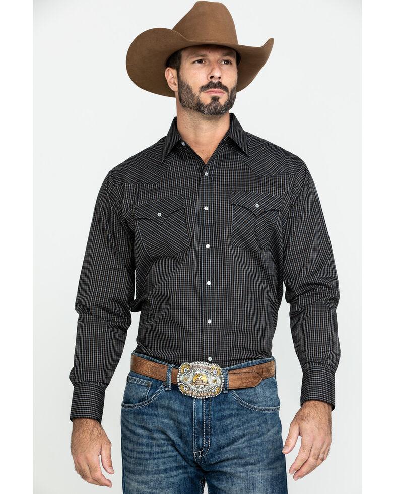 Ely Cattleman Men's Multi Check Plaid Long Sleeve Western Shirt - Big & Tall , Multi, hi-res