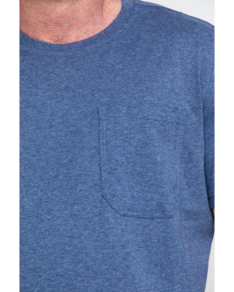 Hawx® Men's Pocket Crew Short Sleeve Work T-Shirt , Heather Blue, hi-res