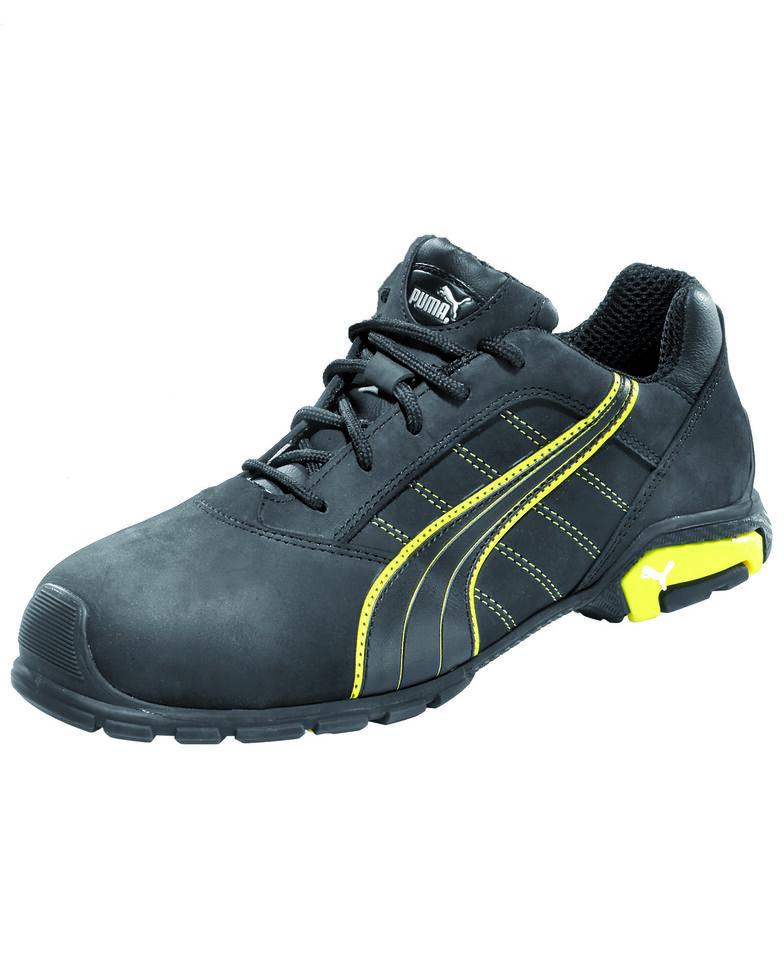 Puma Men's Amsterdam Work Shoes - Aluminum Toe, Black, hi-res