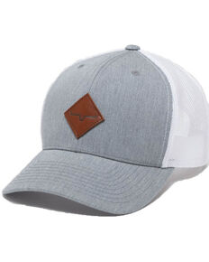 Kimes Ranch Heather Grey Diamond Patch Trucker Cap , Heather Grey, hi-res