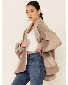 Free People Women's Jordan Button-Down Cardigan , Taupe, hi-res