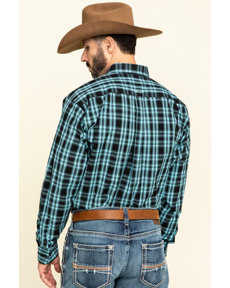 Ariat Men's Iberville Small Plaid Long Sleeve Western Shirt , Black, hi-res