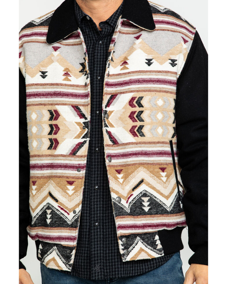 Cripple Creek Men's Brown Navajo Blanket Jacket , Beige/khaki, hi-res