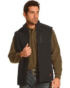 Ariat Men's Work Fire Resistant Black Work Vest, Black, hi-res