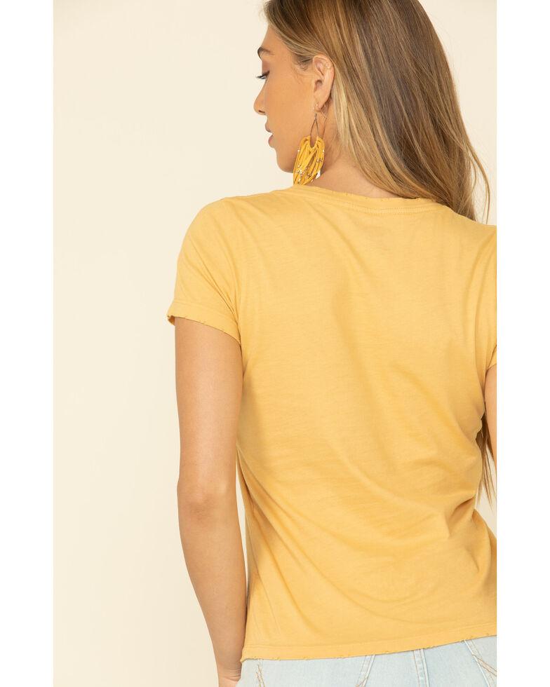 Bandit Brand Women's Mustard Country & Western Graphic Tee, Dark Yellow, hi-res