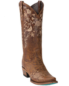 Lane Women's Wild Vine Western Boots - Snip Toe, Brown, hi-res