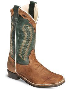 Cody James Youth Boys' Barnwood Cowboy Boots - Square Toe, Brown, hi-res