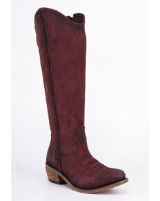 Liberty Black Women's Vegas Tinto Tall Boots - Round Toe , Wine, hi-res
