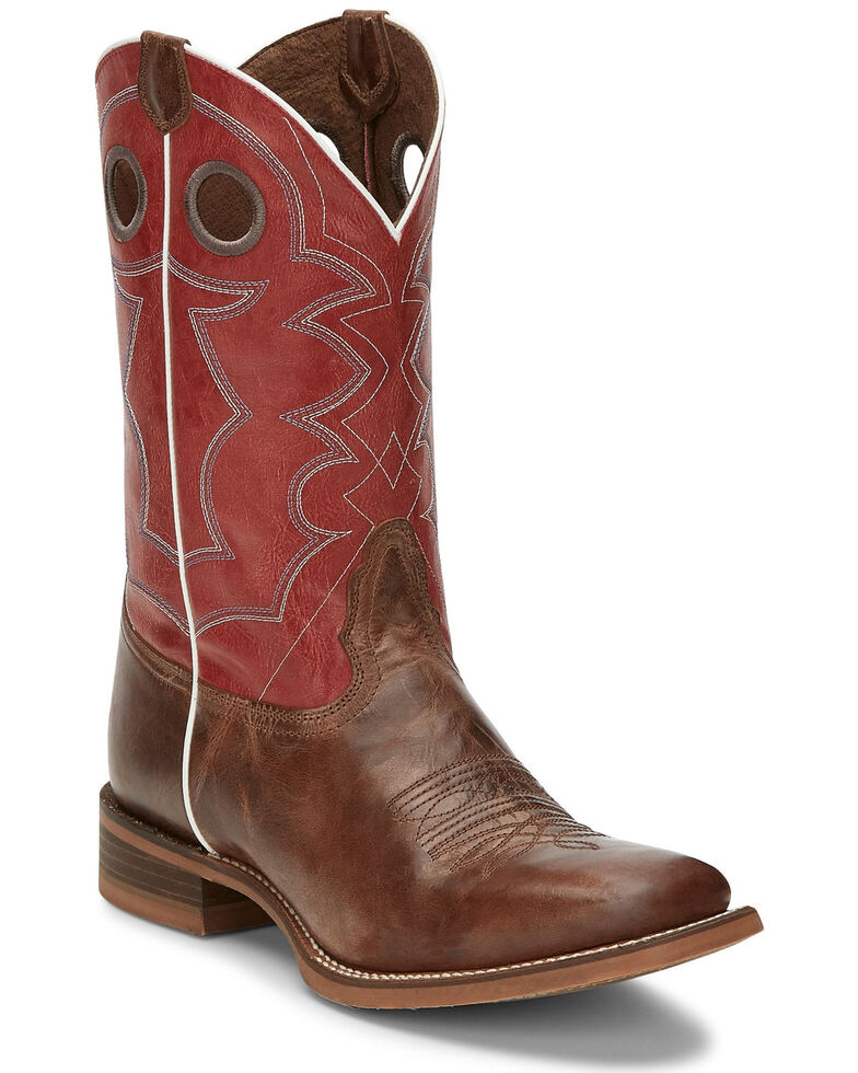 Nocona Men's Cohan Tan Western Boots - Square Toe, Brown, hi-res