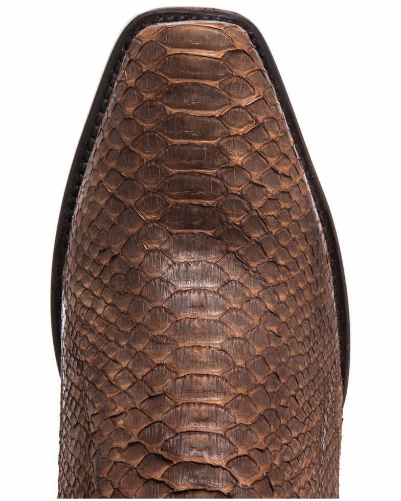 Dan Post Men's Brown Python Western Boots - Snip Toe, Lt Brown, hi-res