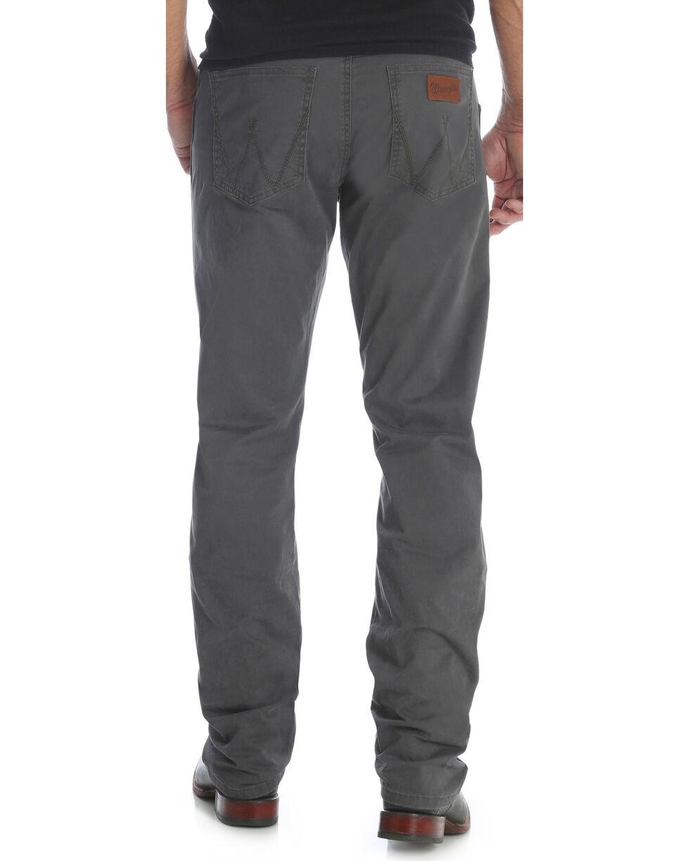 Wrangler Men's Smoke Retro Slim Fit Jeans - Straight Leg , Dark Grey, hi-res