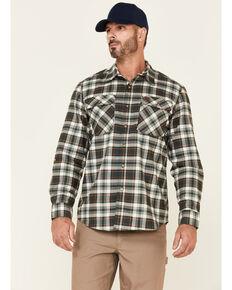 Wrangler Riggs Men's Green & White Plaid Long Sleeve Button-Down Work Shirt - Tall , Green, hi-res